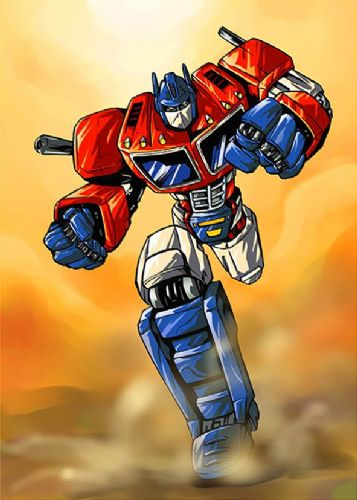 TRANSFORMERS - OPTIMUS PRIME RUNS canvas print - self adhesive poster - photo print